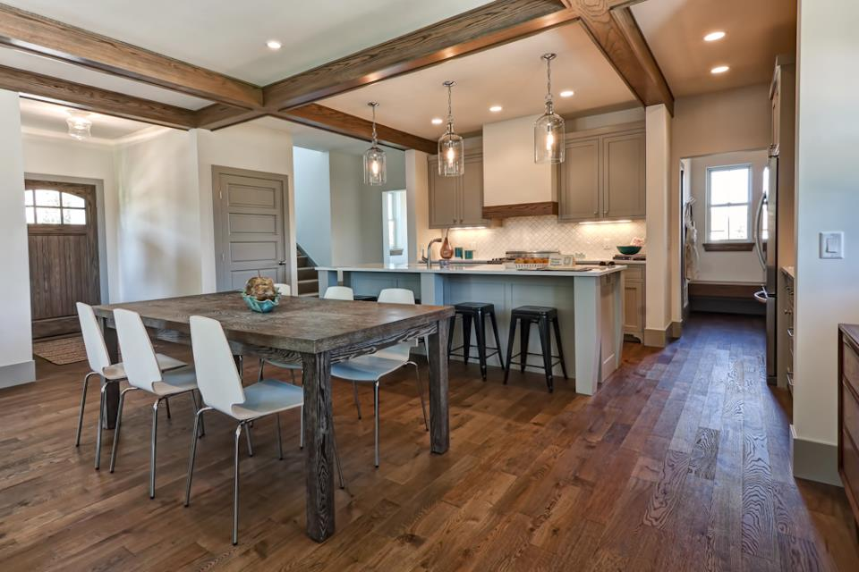 wood floors in kitchen