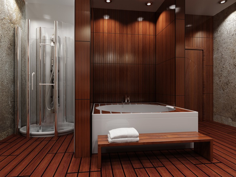 Is Wood Flooring In The Bathroom A Good Idea: bathroom ideas wooden floor