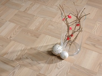 Pearl Grey Ash - Uniblock Hardwood Flooring Collection