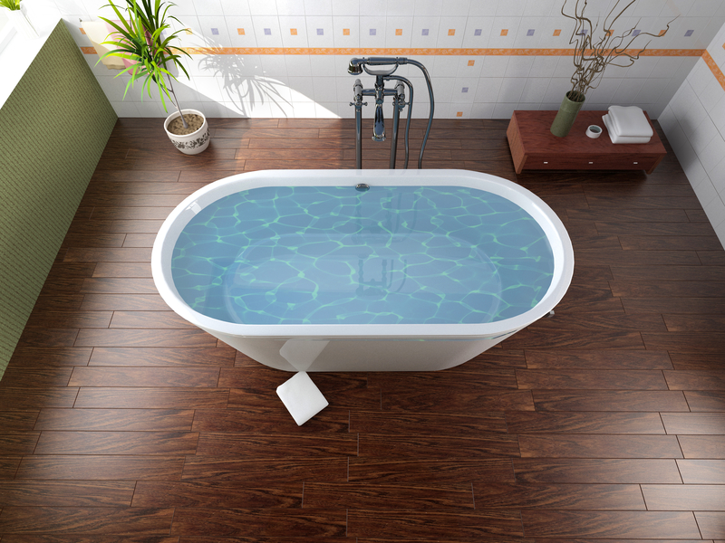 Is wood flooring in the bathroom a good idea for Wood floor bathroom