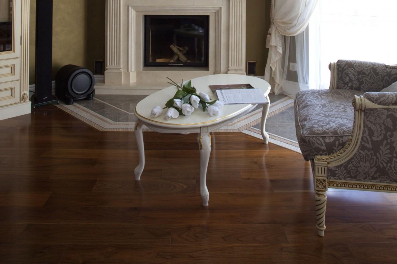 Living Room Floor Idea American Walnut Hardwood
