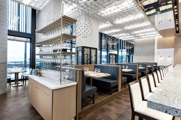 Coswick's PARQUETRY at West Vancouver Ancora Waterfront and Patio restaurant